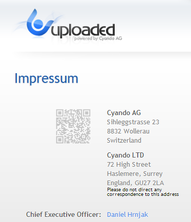 uploaded impressum