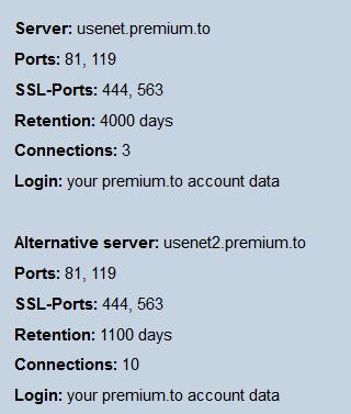 Premium.to Usenet Server
