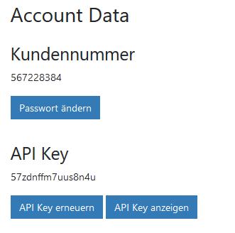 api key kundennummer